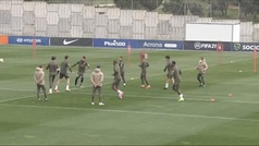 El Atlético deja atrás el derbi y se centra en el partido del miércoles ante el Athletic