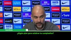 La respuesta de Guardiola sobre su celebración de cumpleaños que hizo reir a la prensa