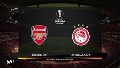 Europa League (1/16, vuelta): Resumen y goles del Arsenal 1-2 Olympiakos