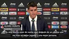 """Morata, en su presentación: """"Es bonito estar de vuelta"""""""