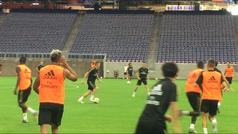 El Real Madrid entrenó frente al público en Houston
