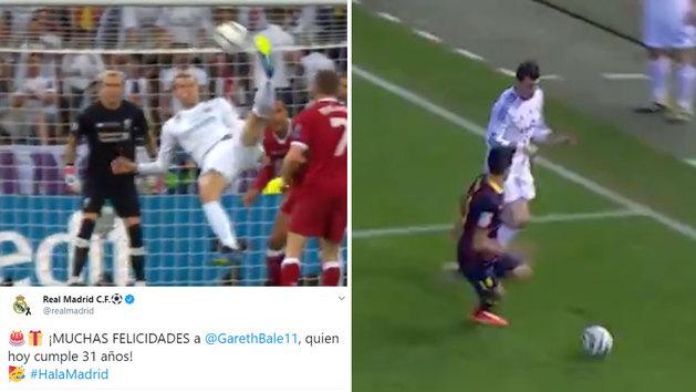 El Real Madrid felicita a Bale por su 31 cumpleaños recordando sus mejores golazos