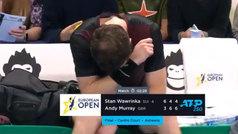 Murray vence en Amberes tras su calvario con la cadera y rompe a llorar de la emoción