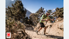 Jordi Gamito acaricia el triunfo final en la Everest Trail Race