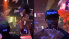 Mayweather vuelve a lanzar miles de dólares por los aires en un club de striptease