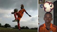 """El sueño del """"increíble niño Eche"""" de convertirse en futbolista internacional"""