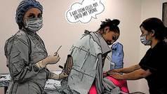 Cris Cyborg graba como la pinchan en la espina dorsal sometiendose a un tratamiento de células madre