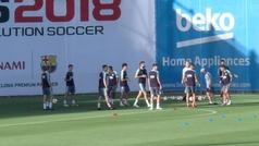 Collejas para Sergi Roberto y Jordi Alba