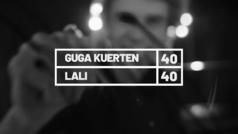 El ex tenista brasileño Gustavo Kuerten, 'Guga', habla con Lali