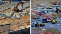 Impresiona ver el Bernabéu como una escombrera: así están las obras dentro del estadio