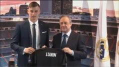 """Lunin: """"Quiero poner mi granito de arena para que el Madrid siga siendo el mejor"""""""