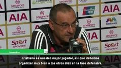 "Sarri sucumbe a Cristiano: ""Tiene total libertad, ya organizo a los otros diez para defender"""