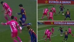 Collado se viste de Messi en un golazo espectacular: conduce, regatea y define como Leo