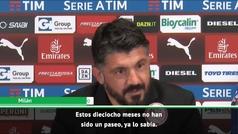 """El enfado de Gattuso con un periodista: """"¿Estás sordo?"""""""