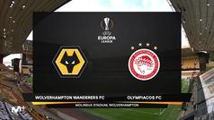 Europa League (octavos, vuelta): Resumen y goles del Wolverhampton 1-0 Olympiacos