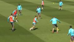 El último entrenamiento del Real Madrid antes del viaje a Granada