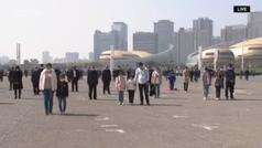 Impresiona: tres minutos de luto de China por las víctimas del coronavirus