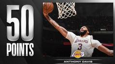 Anthony Davis (50) deja atrás los mitos de Kobe, Shaq y Jabbar en los Lakers