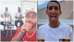"""La fiesta de Neymar en su casa y el vacile a Di María: """"Qué guapo eres, hermano"""""""