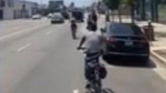 LeBron James pasea por Los Ángeles en bicicleta en plan 'Verano Azul'