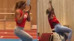El acrobático entrenamiento radical de una estrella X del deporte