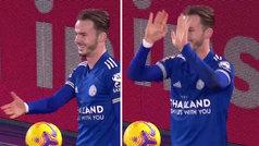 La curiosa celebración de gol de Maddison llamando al distanciamiento social