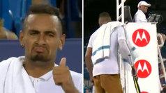 """Otra de Kyrgios al juez de silla con palito a Nadal: """"Si Rafa juega así de rápido me retiro"""""""
