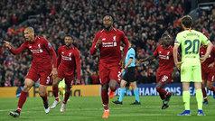 Champions League (semis, vuelta): Resumen y goles del Liverpool 4-0 Barcelona