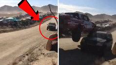 El despiste en la Baja 1000 de México que no se convirtió en tragedia... por centímetros