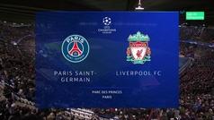 Champions League (J5): Resumen y goles del PSG 2-1 Liverpool