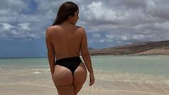 Anabel Pantoja lo vuelve a hacer: se graba en topless en la playa