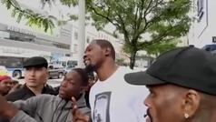 """El vídeo viral de Kevin Durant diciendo que """"nunca"""" iría a los Knicks"""