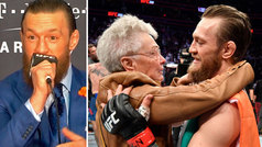 """Un cortés e irreconocible McGregor se rinde... ¡ante la abuela de Cerrone!: """"¡Qué mujer!"""""""