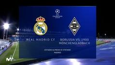 Champions League (Grupo B): Resumen y goles del Real Madrid 2-0 Borussia Mönchengladbach
