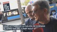 """Laporta: """"Los incidentes de Koeman no pueden volver a repetirse"""""""