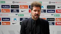 """Simeone: """"Todos pensaban que íbamos a ganar por 20 puntos, no sé qué se imaginaban"""""""