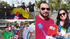 Los colombianos copan Sao Paulo: fe máxima en ganar la Copa América