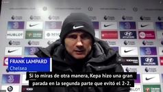 Lampard da la cara por Kepa tras su error ante el Luton