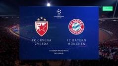 Champions League (Grupo B): Resumen y goles del Estrella Roja 0-6 Bayern Múnich