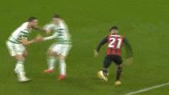 Brahim sigue enrachado con el Milan: gran gol tras volver loco al defensa