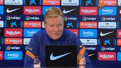 """Koeman: """"Las palabras del club hacia Messi no ayudan"""""""