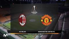 Europa League (octavos, vuelta): Resumen y goles del Milan 0-1 Manchester United