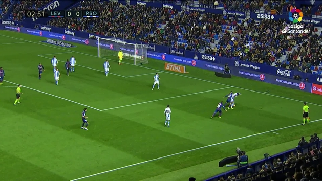 Gol de Chema (1-0) en el Levante 1-3 Real Sociedad