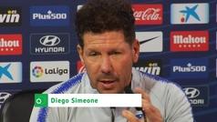 """Simeone: """"Filipe va a jugar contra el Valencia y es importantísimo para nosotros"""""""