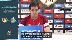 """Iraola: """"Falcao entra en la convocatoria para el Getafe"""""""