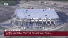 Derrumbe del pabellón de los Pistons