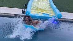 Danica Patrick tiene una rampa de lanzamiento para tirarse a la piscina
