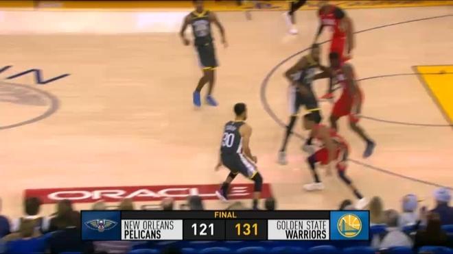 Klay Thompson fija marca de triples en victoria sobre Bulls