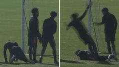 La broma de Morata tiene más años que el sol... ¡pero Cuadrado cayó con un novato!