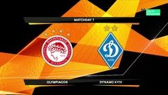 Europa League (1/16, ida): Resumen y goles del Olympiacos 2-2 Dinamo Kiev